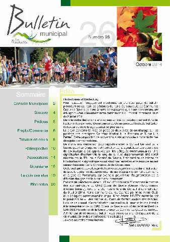 Bulletin municipal octobre 2014