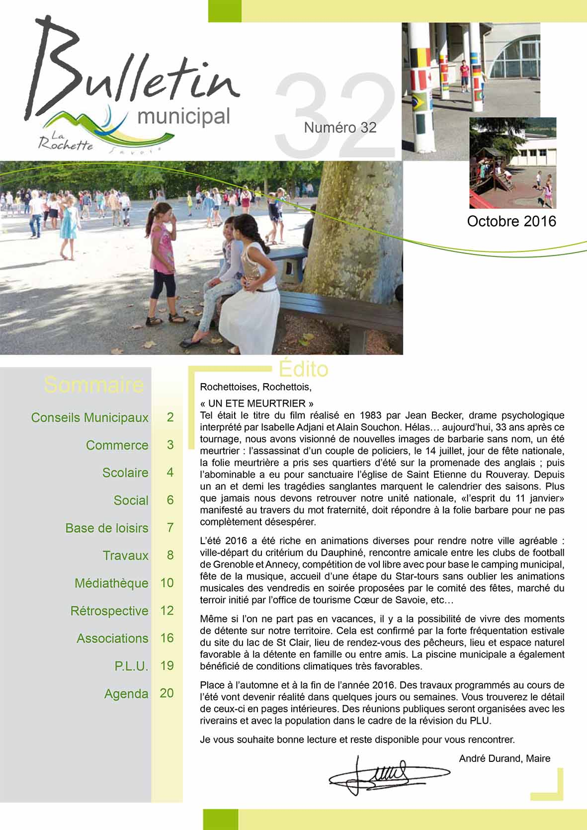 Bulletin municipal octobre 2016