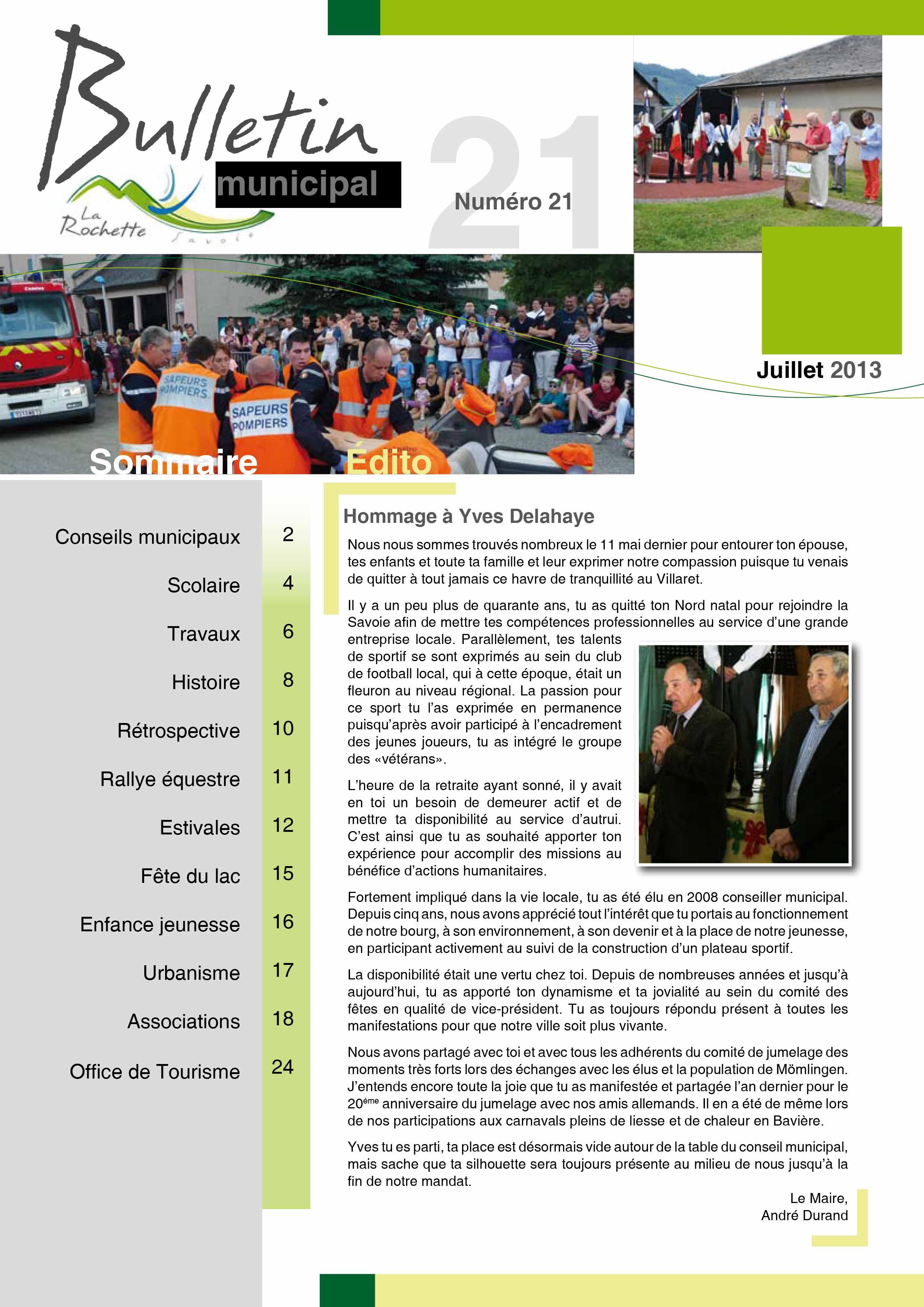 Bulletin municipal juillet 2013
