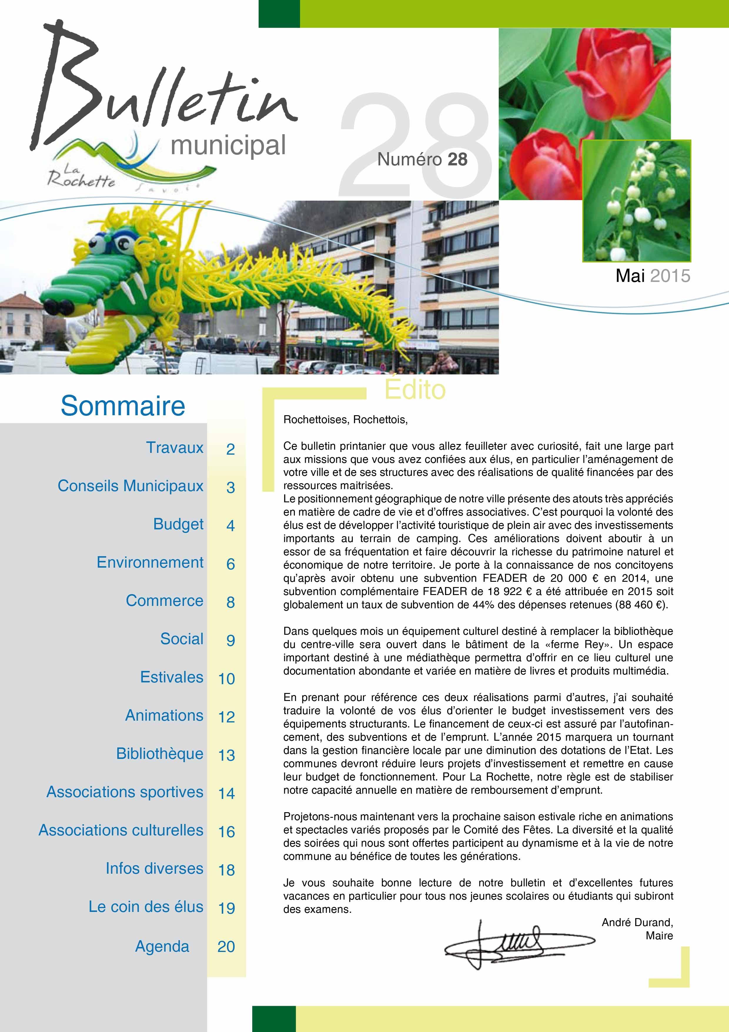 Bulletin municipal mai 2015