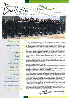 Bulletin municipal janvier 2016