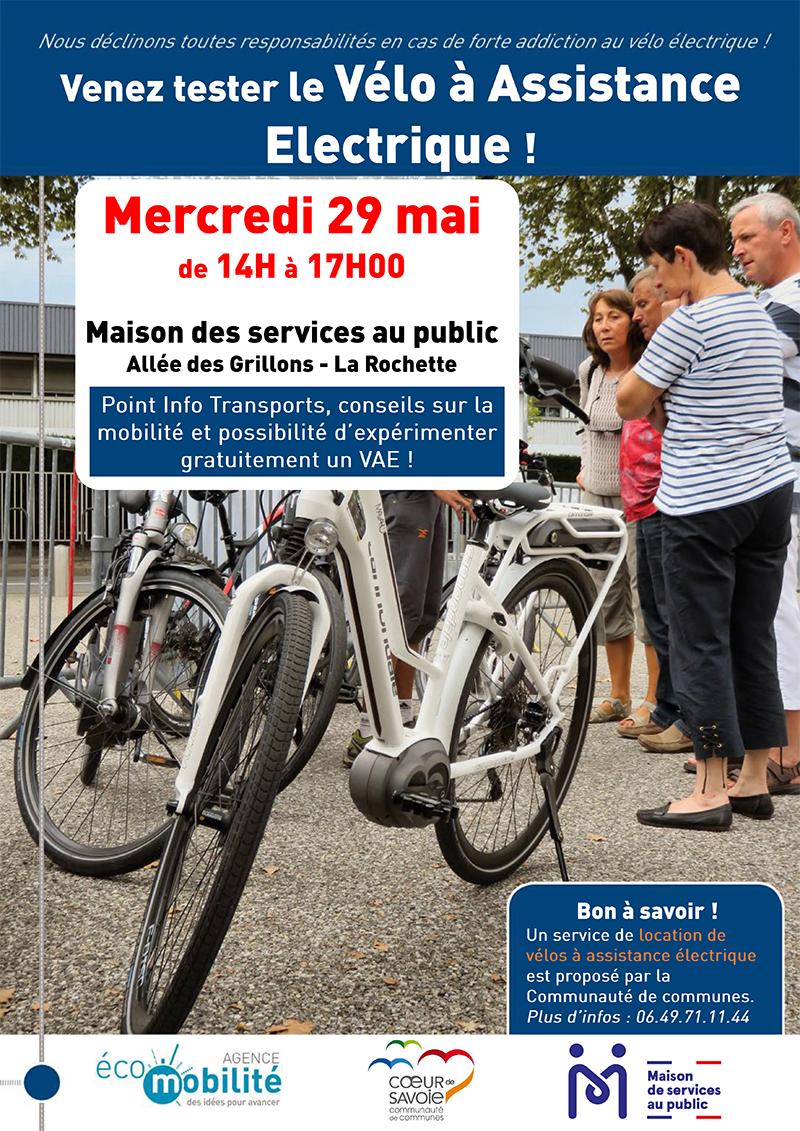 affiche vélo électrique MSAP