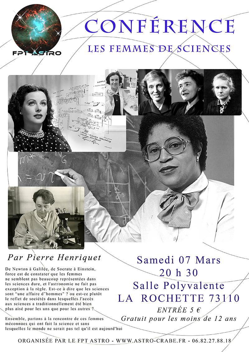 Conférence «Les femmes de sciences»