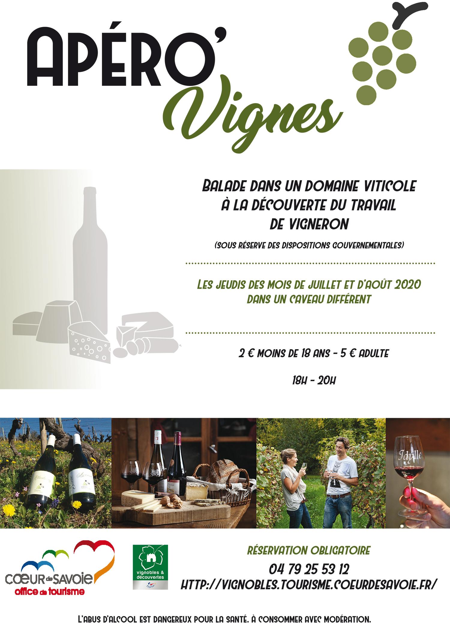 affiche apero vigne