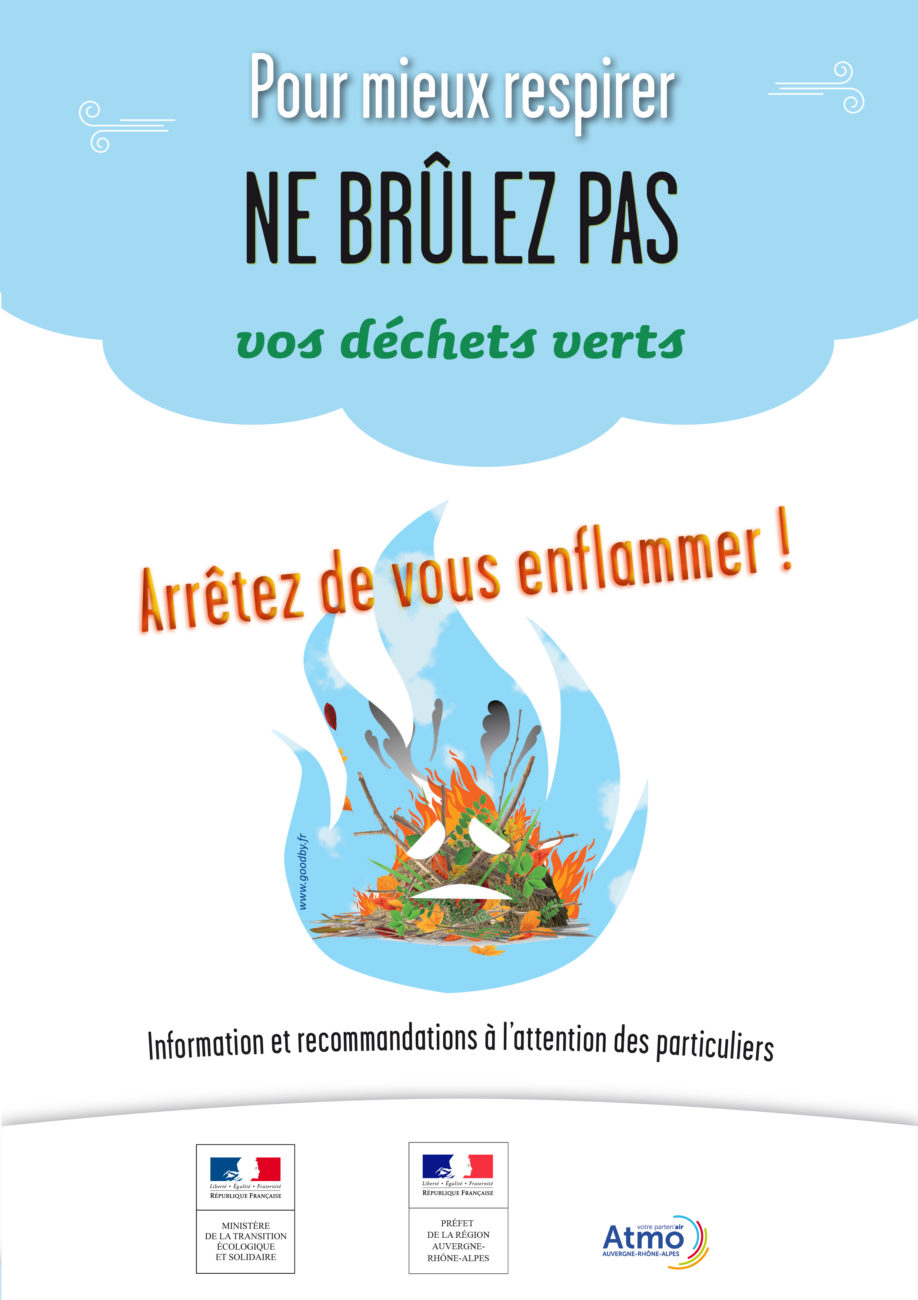 Ne brûlez pas vos déchets verts