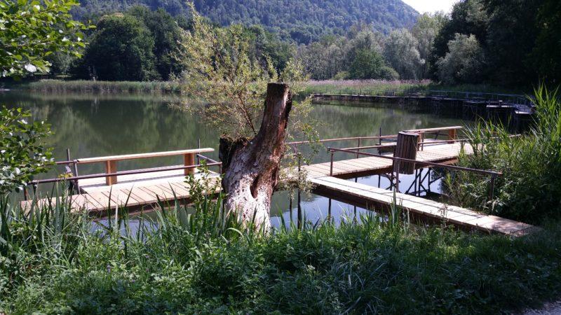 Ponton Lac Saint Clair
