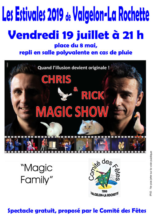 affiche les estivales 2019 Magic Show