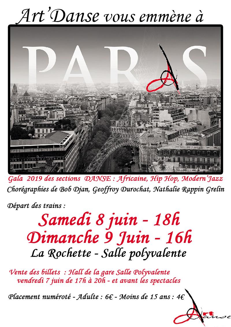 Spectacle «Art'Danse vous emmène à Paris»
