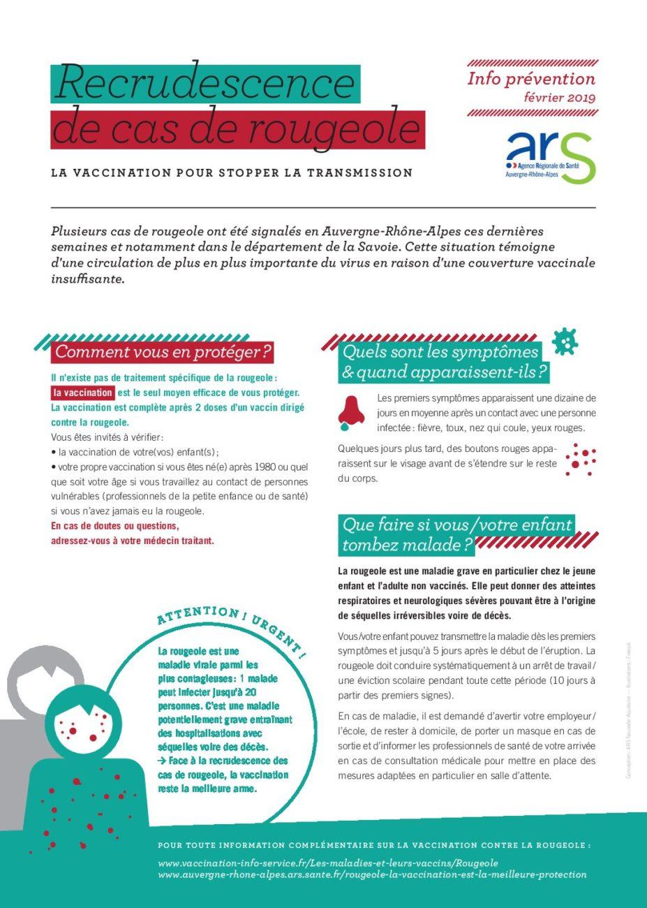 Extension de l'épidémie de rougeole en Auvergne-Rhône-Alpes