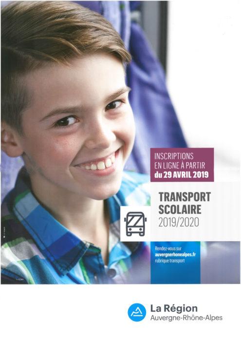 Inscriptions Transports scolaires 2019/2020