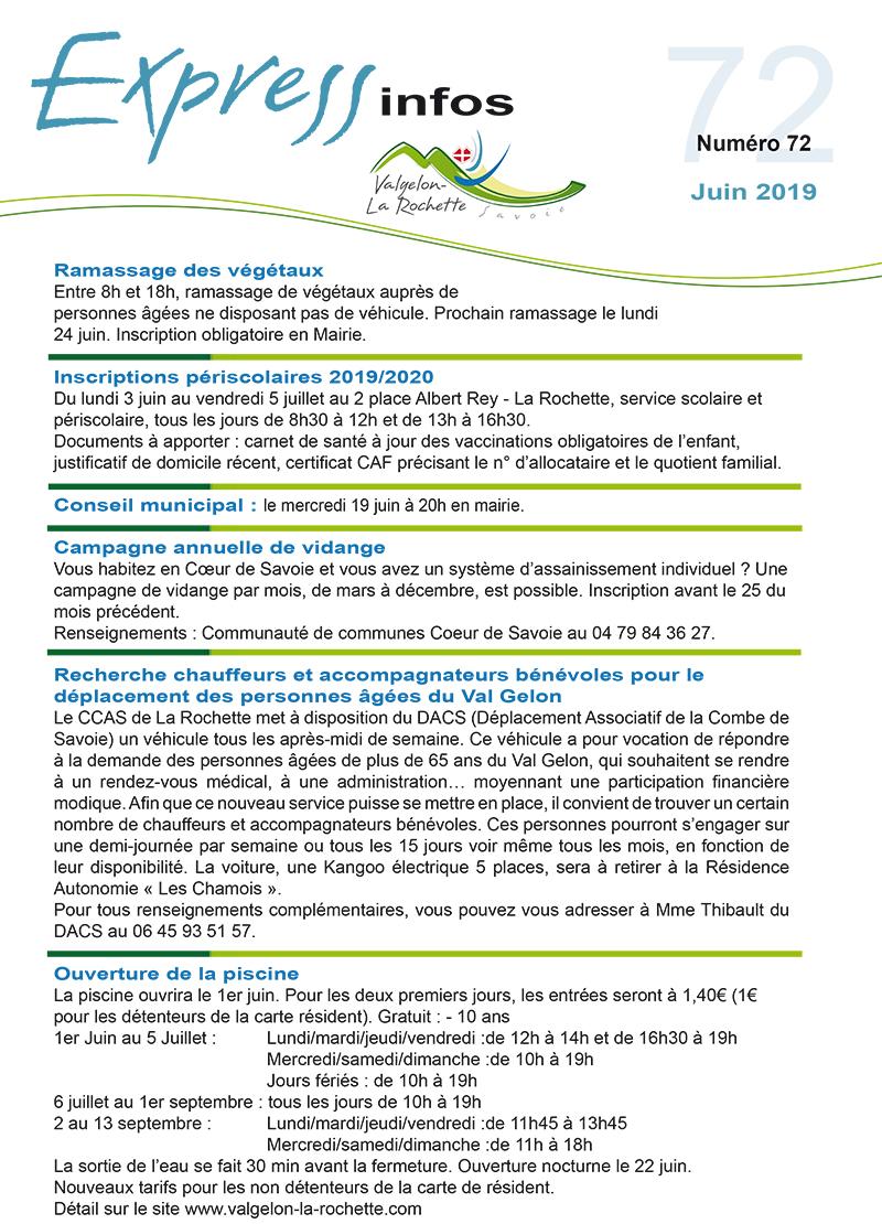 Express Info juin 2019