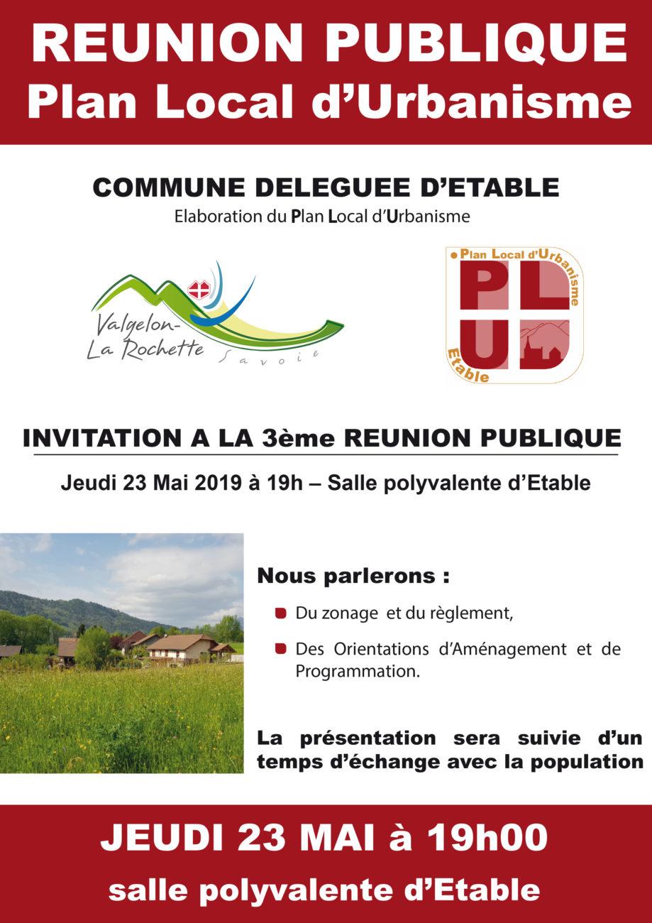 Réunion sur la révision du PLU de la commune déléguée d'Étable