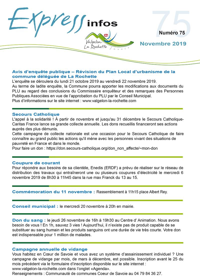Express Info novembre 2019