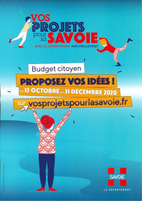 1er Budget citoyen de la Savoie : Proposez vos idées !