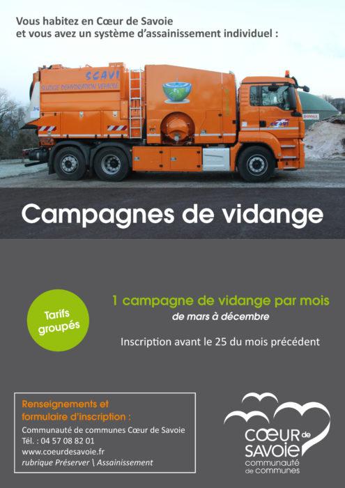 Campagne annuelle de vidange